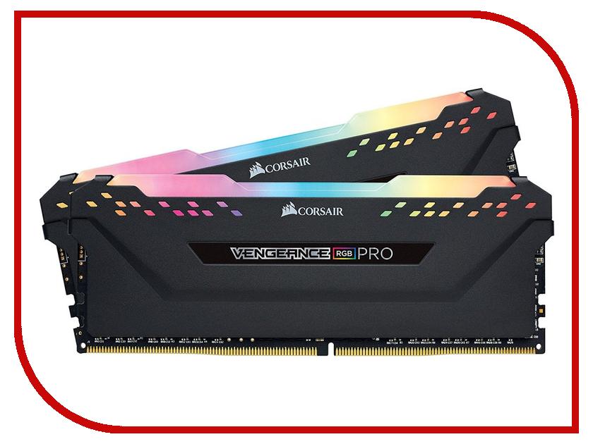 Модуль памяти Corsair Vengeance RGB Pro DDR4 DIMM 3200MHz PC4-25600 CL14 - 16Gb KIT (2x8Gb) CMW16GX4M2C3200C14 модуль памяти corsair vengeance lpx ddr4 dimm 3200mhz pc4 25600 16gb kit 2x8gb cmk16gx4m2d3200c16