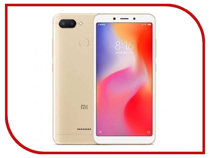 Сотовый телефон Xiaomi Redmi 6 3Gb RAM 64Gb Gold сотовый телефон xiaomi redmi note 6 pro 4 64gb black