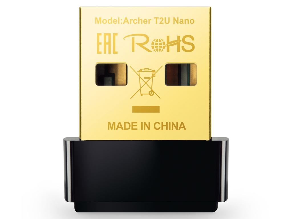 Wi-Fi адаптер TP-LINK Archer T2U Nano адаптер tp link archer t2u nano ac600 nano wi fi usb адаптер