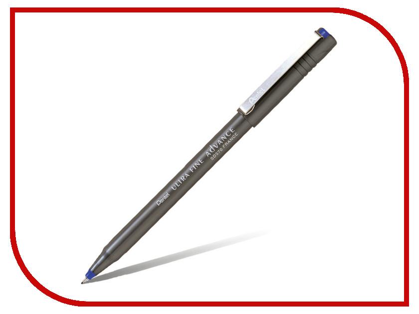 Купить Ручка капиллярная Pentel Ultra Fine Advance одноразовая 0.6mm Blue SD570-C, Япония