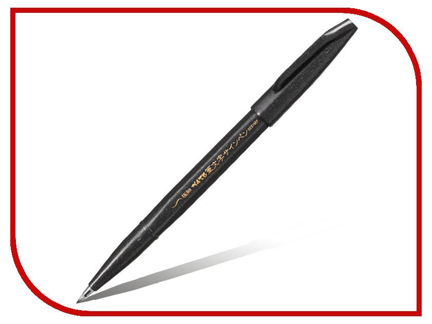 Купить Фломастер-кисть Pentel Brush Sign Pen Extra Fine Black XSES15EFA, Япония