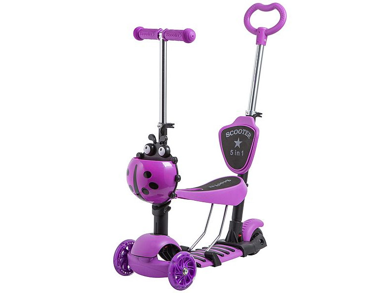 Самокат Novatrack Disco-Kids Purple 120SB.DISCOKIDS.VL9