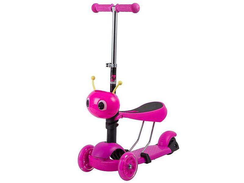 Самокат Novatrack Disco-Kids Pink 120S.DISCOKIDS.PN9