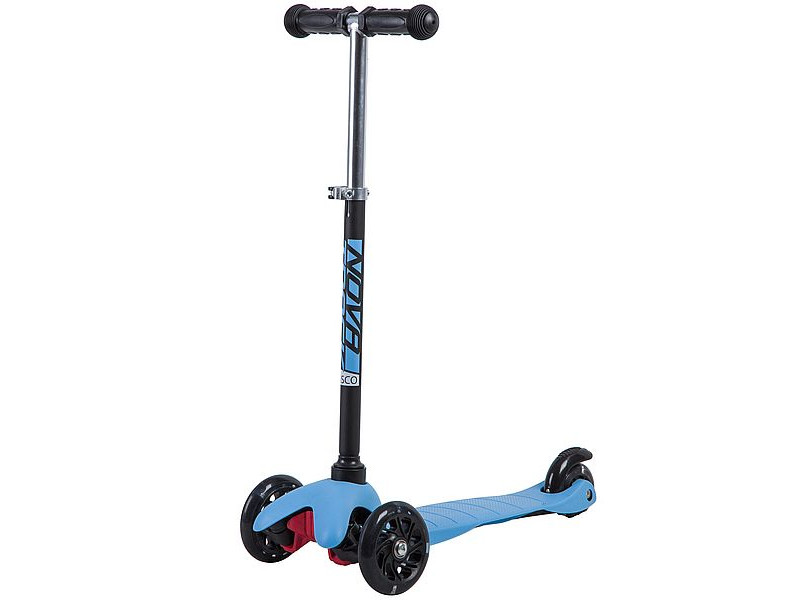 Самокат Novatrack Disco-Kids Black-Blue 120H.DISCOKIDS.BBL9