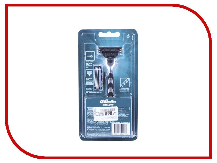 Картинка для Бритва Gillette Mach3 c 1 сменной кассетой 81445065