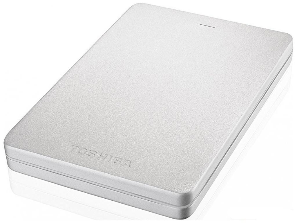 Жесткий диск Toshiba Canvio Alu 500Gb SilverHDTH305ES3AB toshiba canvio connect ii 500gb black внешний жесткий диск hdtc805ek3aa