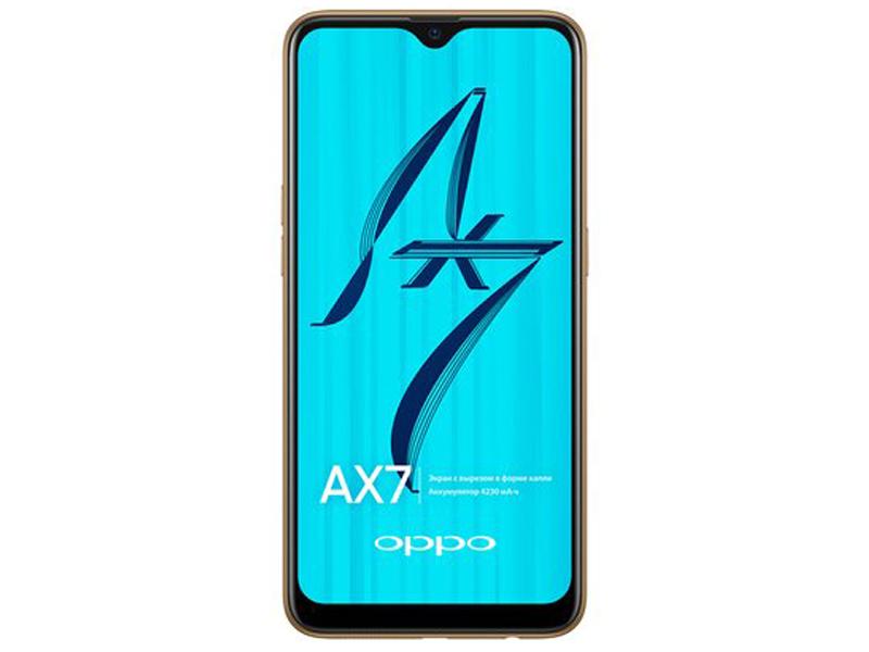 Сотовый телефон OPPO AX7 3/64GB Glaring Gold