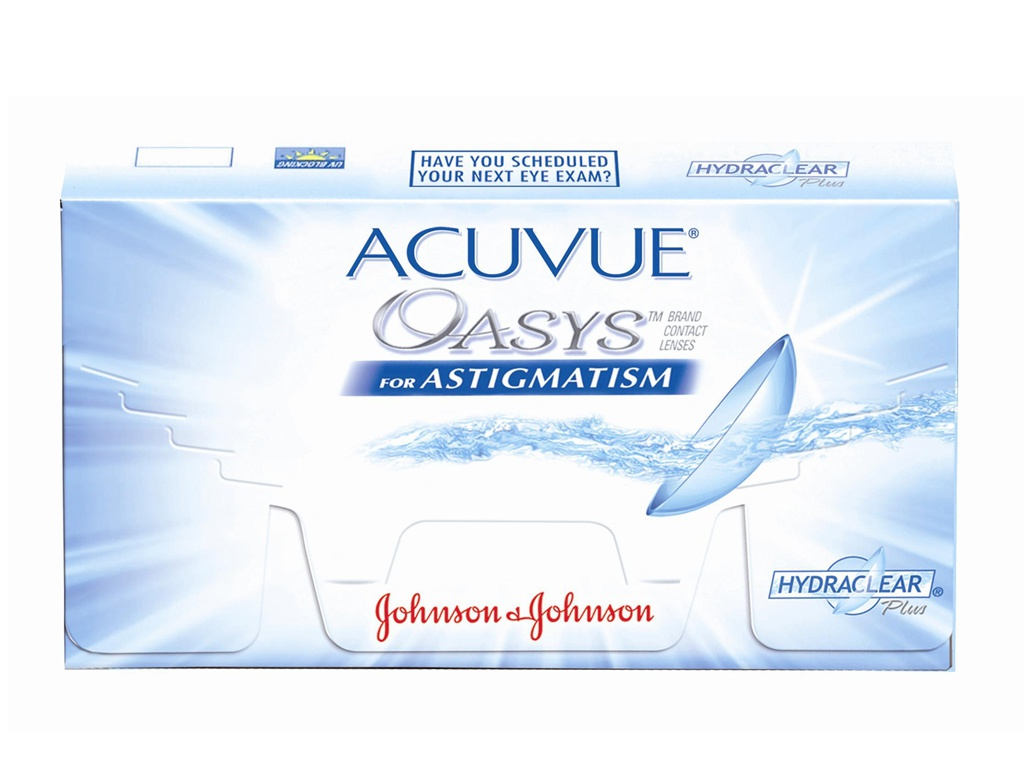 Контактные линзы Johnson & Johnson Acuvue Oasys for Astigmatism (6 линз / 8.6 / -1.50 / -0.75 100) аlcon контактные линзы air optix for astigmatism 3pk bc 8 7 dia14 5 pwr 3 25 cyl 1 75 axis 50