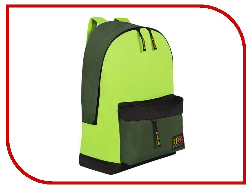 Рюкзак Grizzly RU-704-3/2 Black-Light Green