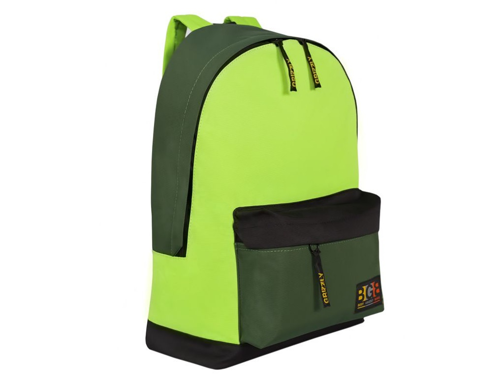 цена на Рюкзак Grizzly RU-704-3/2 Black-Light Green