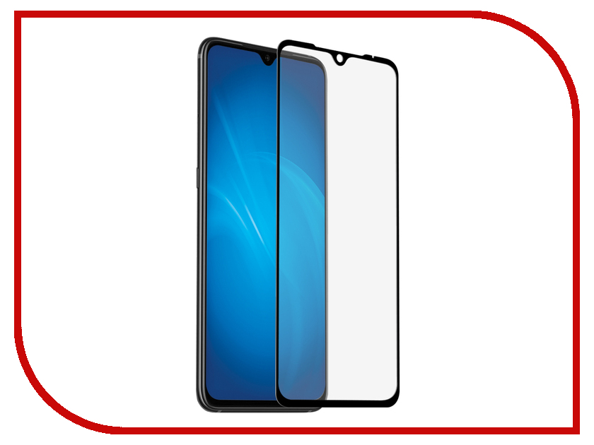 Аксессуар Закаленное стекло для Xiaomi Mi 9 DF Full Screen + Full Glue xiColor-53 Black аксессуар df czebra 01 blue black