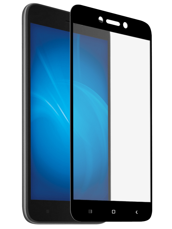 Аксессуар Закаленное стекло DF для Xiaomi Redmi Go Full Screen + Glue xiColor-51 Black