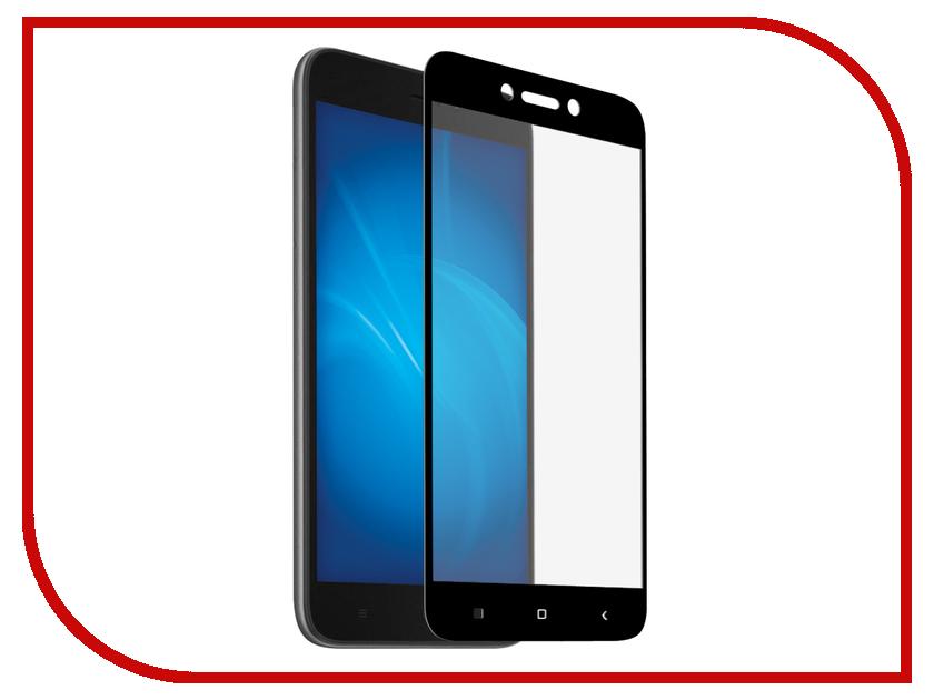 Аксессуар Закаленное стекло для Xiaomi Redmi Go DF Full Screen xiColor-52 Black аксессуар защитное стекло для xiaomi black shark df xicolor 30 black