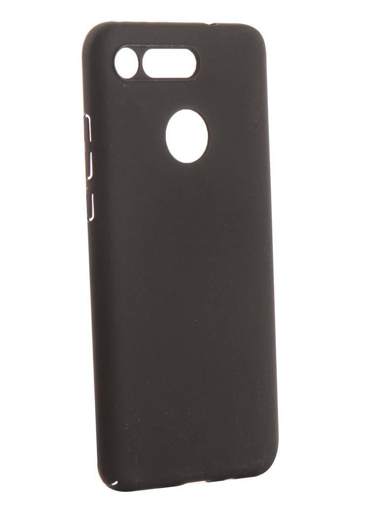 Аксессуар Чехол DF для Huawei Honor View 20 Soft-Touch hwSlim-07 Black