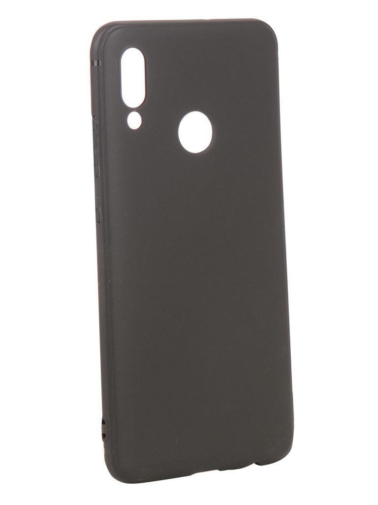 Аксессуар Чехол DF для Huawei Honor 10 Lite Silicone Super Slim hwColorCase-02 Black