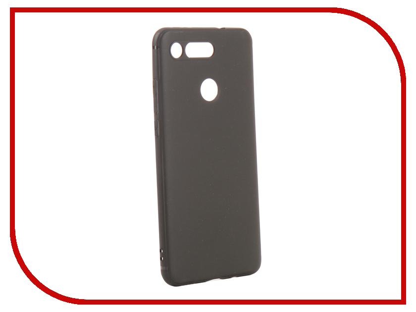Аксессуар Чехол для Huawei Honor View 20 DF Silicone Super Slim hwColorCase-01 Black аксессуар df czebra 01 blue black