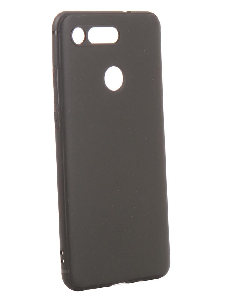 Аксессуар Чехол DF для Huawei Honor View 20 Silicone Super Slim hwColorCase-01 Black