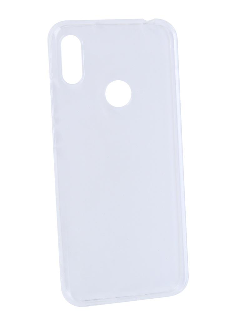 Аксессуар Чехол DF для Huawei Y6 2019 Silicone Super Slim hwCase-78 Transparent