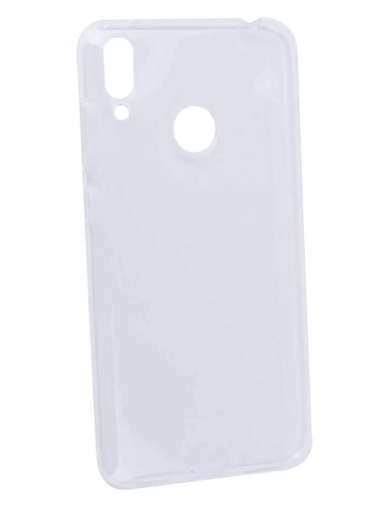 Аксессуар Чехол DF для Huawei Y7 2019 Silicone Super Slim hwCase-76 Transparent