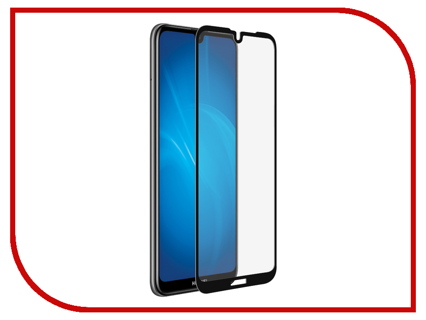 Аксессуар Закаленное стекло для Huawei Y7 2019 / Enjoy 9 DF Full Screen + Full Glue hwColor-95 Black