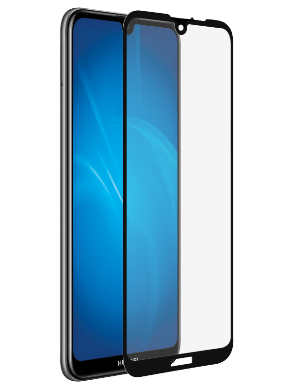 Аксессуар Закаленное стекло DF для Huawei Y6 2019 / Honor 8A Full Screen + Full Glue hwColor-93 Black аксессуар закаленное стекло huawei honor 6x df fullscreen hwcolor 06 gold