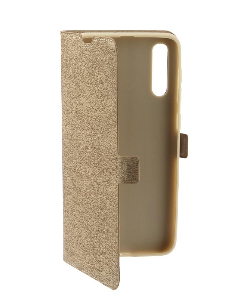 Чехол DF для Samsung Galaxy A30S / A50 sFlip-42 Gold