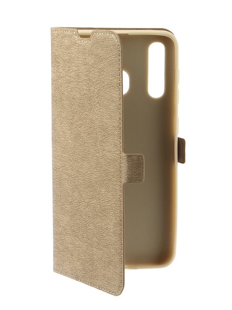 Аксессуар Чехол DF для Samsung Galaxy A20 / A30 sFlip-41 Gold