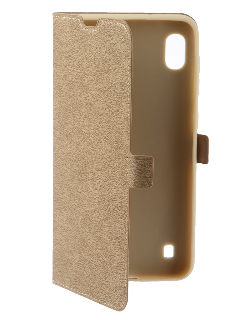 Чехол DF для Samsung Galaxy A10 sFlip-40 Gold