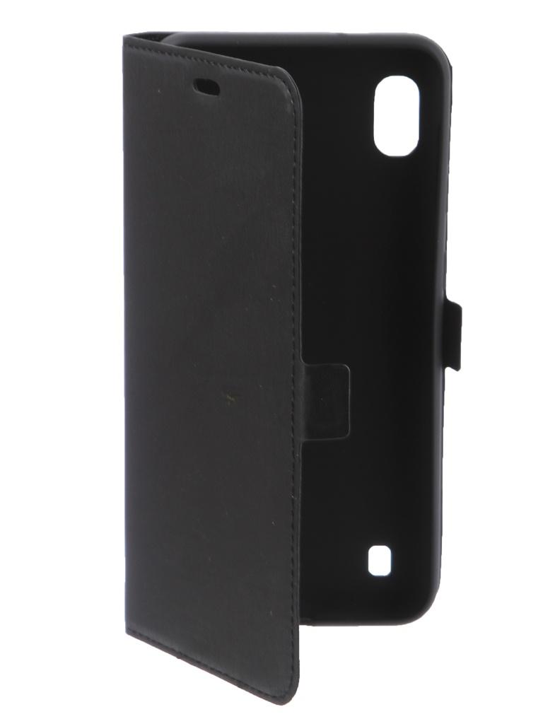 Аксессуар Чехол DF для Samsung Galaxy A10 sFlip-40 Black аксессуар чехол аккумулятор samsung galaxy s6 df sbattery 18 black