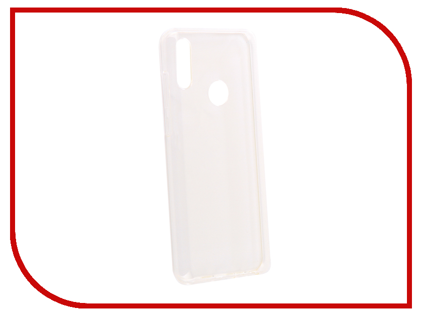 Аксессуар Чехол для Asus Zenfone Max Pro (M2) ZB631KL DF Silicone Super Slim aCase-52 Transparent