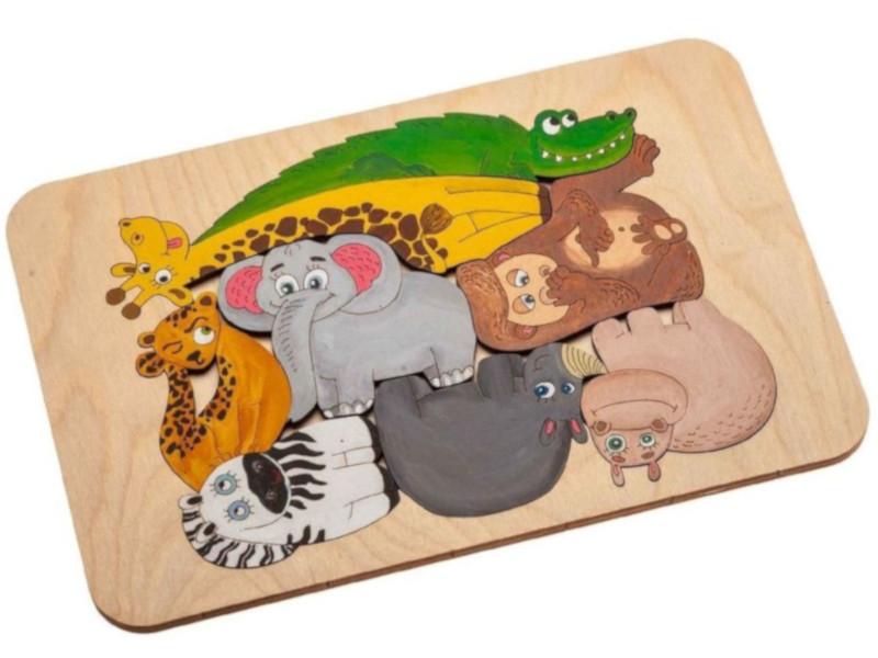 Фото - Пазл-раскраска Wood Machine Африканские животные 11496.02 3d wood carving machine price cnc