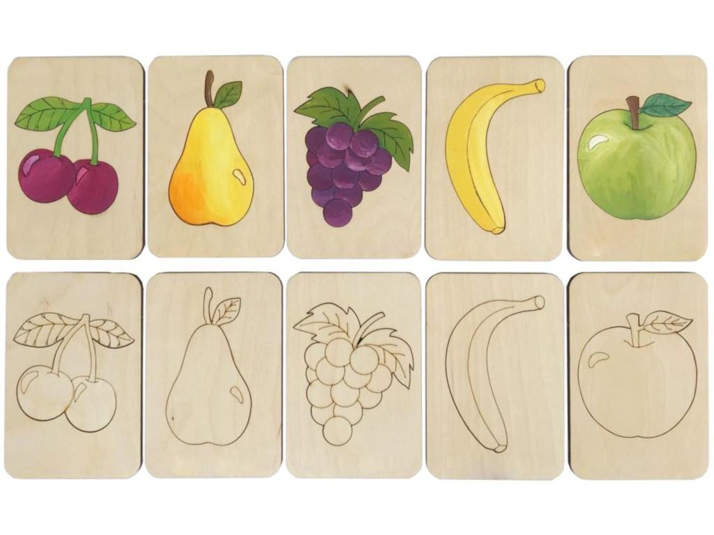Карточки-раскраски Wood Machine Фрукты 11495.02