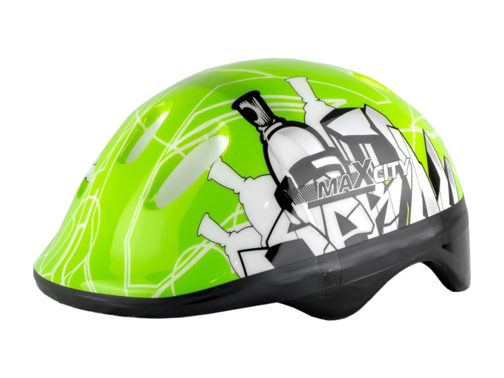Шлем Maxcity Baby City S Green шлем maxcity roller stike m light blue