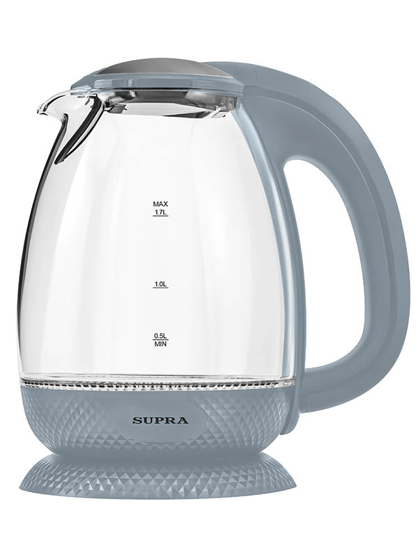 Чайник SUPRA KES-2172 Grey чайник электрический supra kes 1705 beige