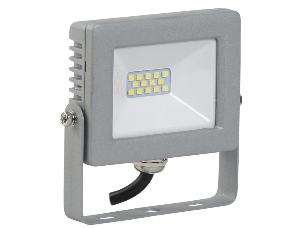 Прожектор IEK СДО 07-10 IP65 Grey LPDO701-10-K03 iek lpdo702 20 k03 прожектор сдо 07 20д светодиодный серый с дд ip44 iek