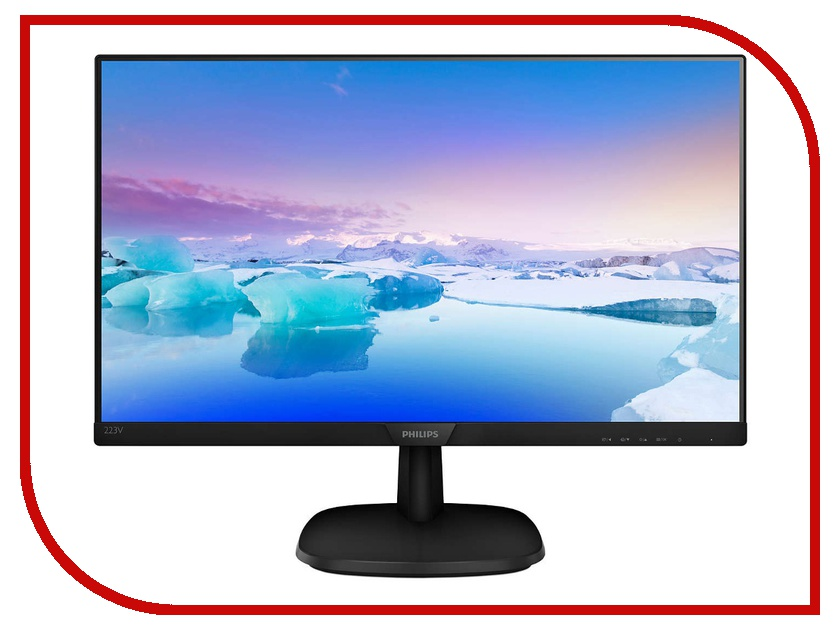 Монитор Philips 223V7QSB/00 Black philips s2bk 00