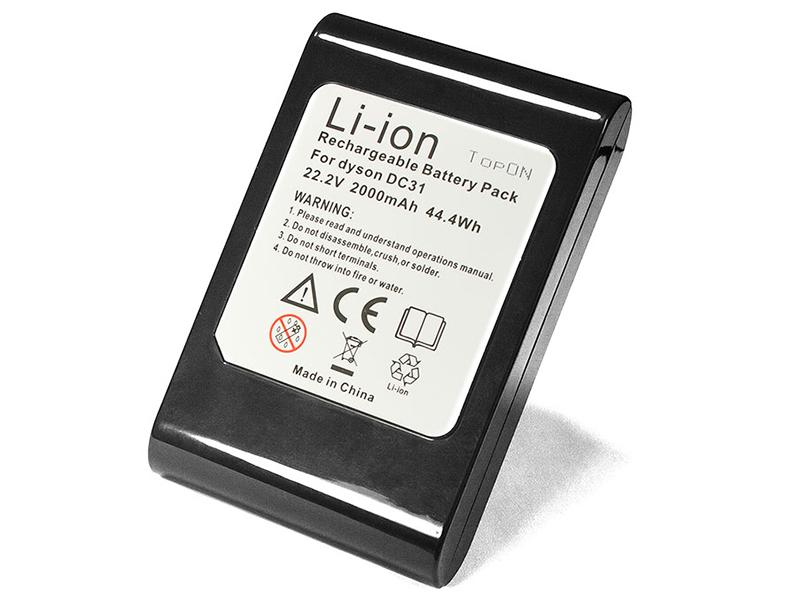 Аксессуар TopON Аккумулятор TOP-DYSDC31-20 для Dyson Vacuum Cleaner DC31 / DC34 DC35 Animal DC44 Exclusive DC45. Разъем Type A 22.2V 2000mAh PN: 917083-09