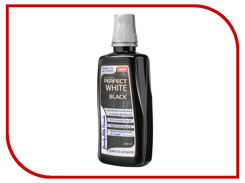 Ополаскиватель для полости рта Beverly Hills Formula Perfect White Black 500ml термокружка la playa football can 500ml white 560104