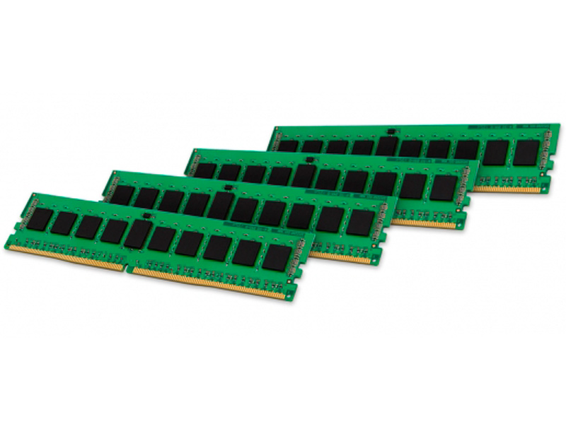 Модуль памяти Kingston DDR4 DIMM 2400MHz PC4-19200 CL17 - 16Gb KIT (4x4Gb) KVR24R17S8K4/16