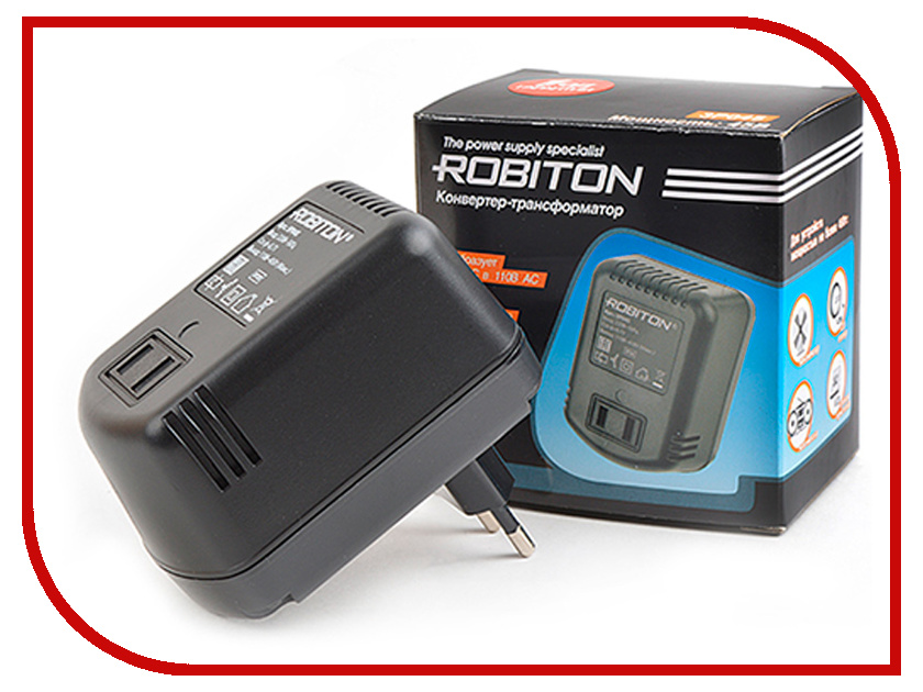 Фото - Аксессуар Robiton 3P045 220V/110V 15438 - конвертер-трансформатор без заземления электронный трансформатор abb bk 500w 220cv 110v 380v 220v