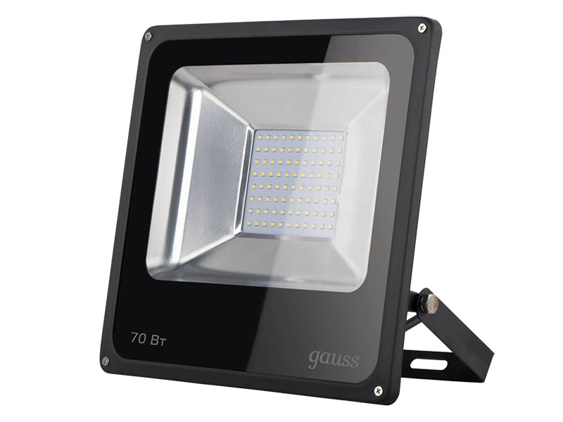 Прожектор Gauss LED 70W 4600Lm IP65 6500К Black 613100370