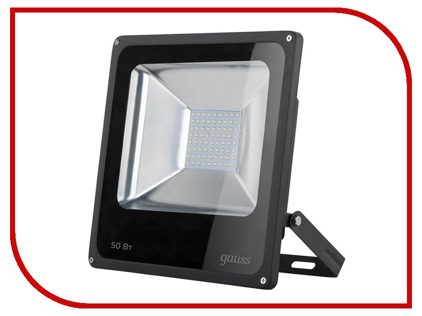 Прожектор Gauss LED 50W 3500Lm IP65 6500К Black 613100350