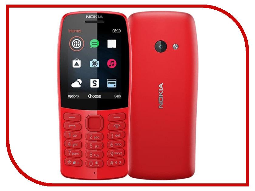 Сотовый телефон Nokia 210 Red 3 7 1000mah сотовый телефон замена литий ионный аккумулятор для nokia bl 4u t5