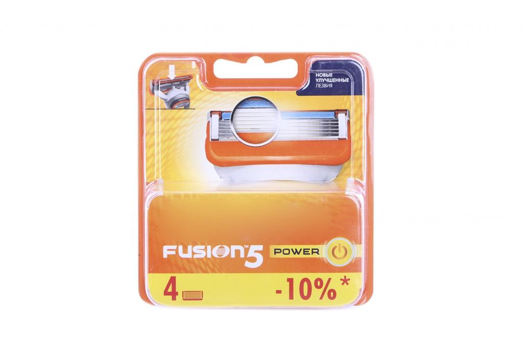 Аксессуар Сменные кассеты Gillette Fusion Power 4 шт 81372246