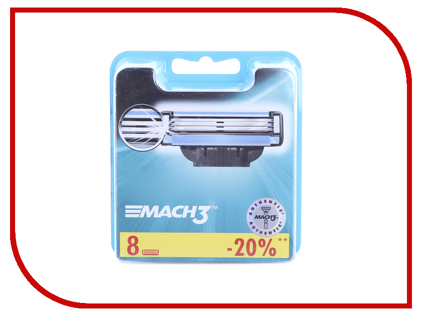 Аксессуар Сменные кассеты Gillette Mach3 8 шт 81540660 gillette сменные кассеты для мужской бритвы fusion proshield chill 2шт