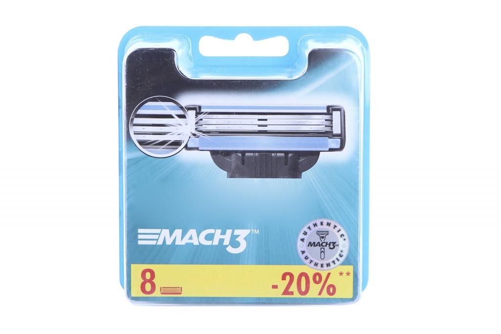Аксессуар Сменные кассеты Gillette Mach3 8 шт 81540660