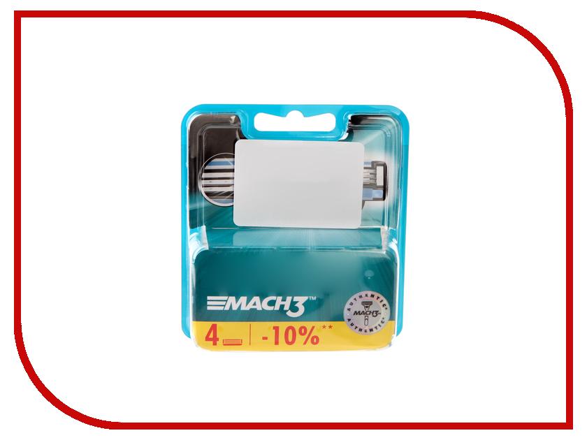 Картинка для Аксессуар Сменные кассеты Gillette Mach3 4шт 80227851