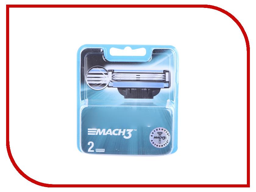 Картинка для Аксессуар Сменные кассеты Gillette Mach3 2шт 81540655