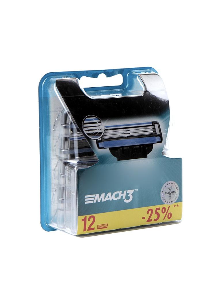 Аксессуар Сменные кассеты Gillette Mach3 12 шт 81542734