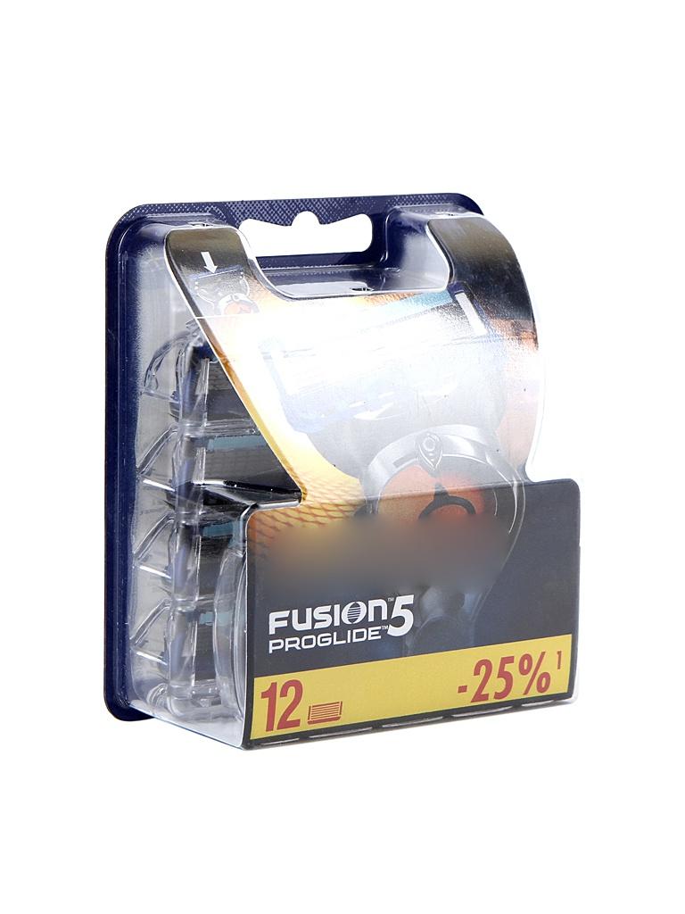 Аксессуар Сменные кассеты Gillette Fusion ProGlide 12 шт 81424007 аксессуар